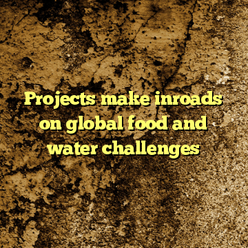 Projects make inroads on global food and water challenges