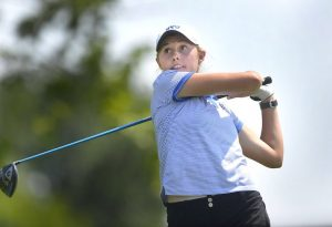 kelsey chugg takes to the greens