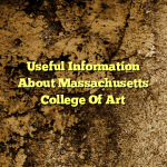 Useful Information About Massachusetts College Of Art