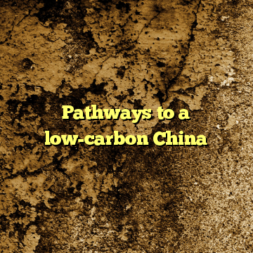 Pathways to a low-carbon China