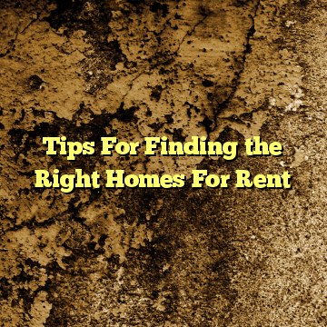 Tips For Finding the Right Homes For Rent