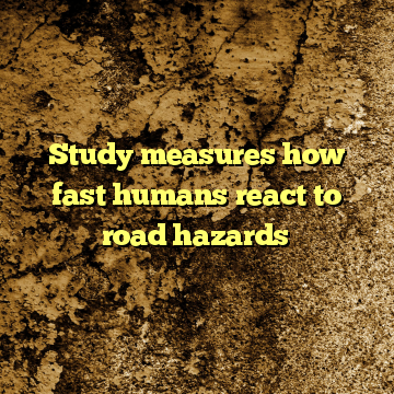 Study measures how fast humans react to road hazards