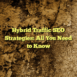 Hybrid Traffic SEO Strategies: All You Need to Know