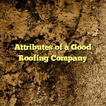 Attributes of a Good Roofing Company
