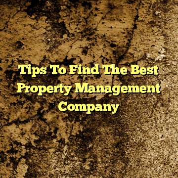 Tips To Find The Best Property Management Company